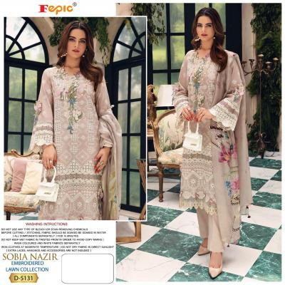 Fepic Sobia Nazir D-5131 to D-5135 Salwar Suits
