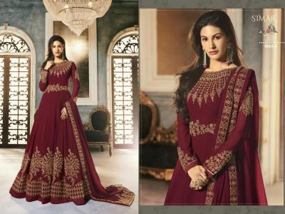 Glossy Simar Abha 9054 Colors Suits