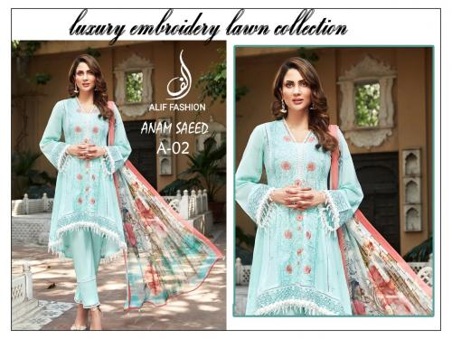 Alif Fashion Anam Seed A-02 Suit Wholesaler