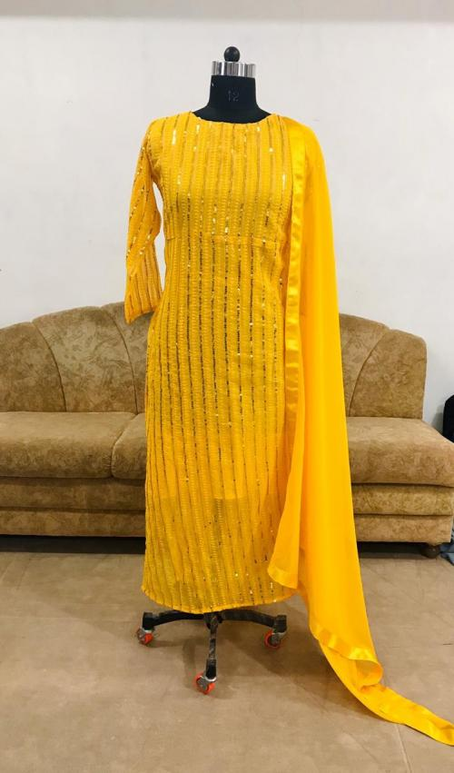 BT 240 Yellow Dress Material a
