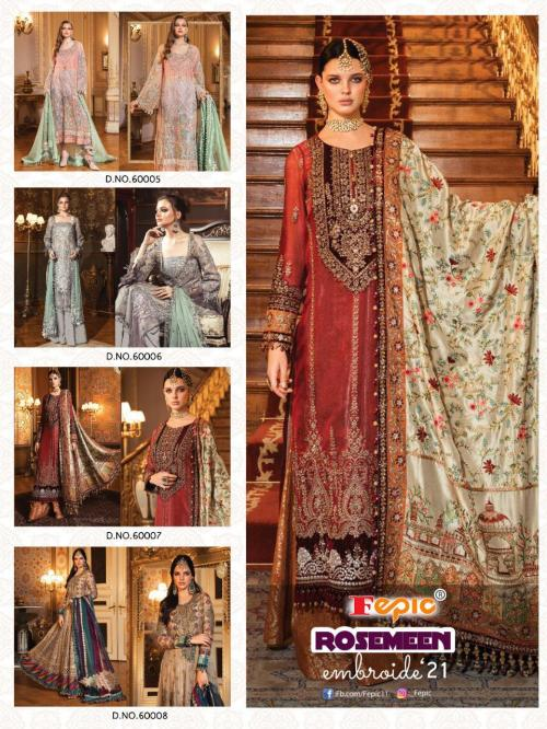 Fepic Rosemeen Embroide 21 60005-60008