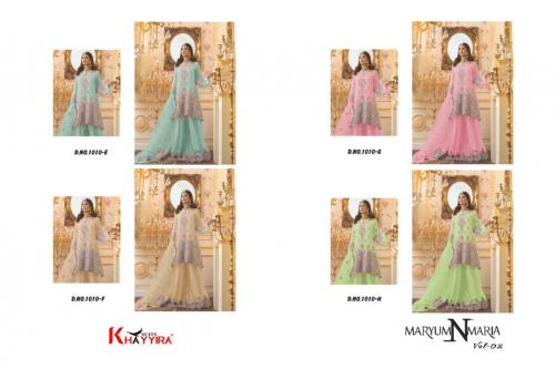 Khayyira Suits Maryum N Maria vol2 1010 colors