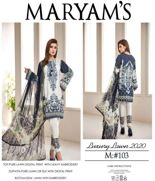 Maryam's Luxury Lawn Collection 103