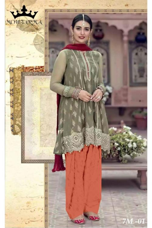 Mohtarma Naaz Vol 2 7M-01 to 7M-07 Series Georgette Salwar Suit