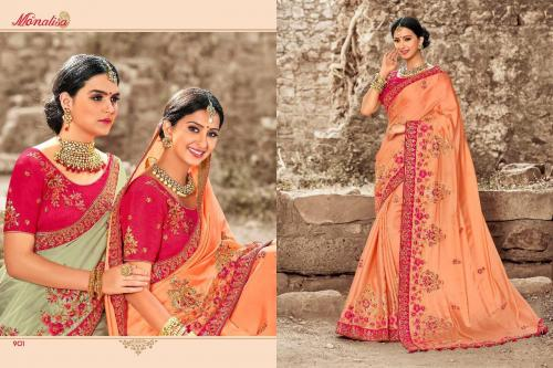 Monalisa 901-911 Series Fancy Embroidered Saree