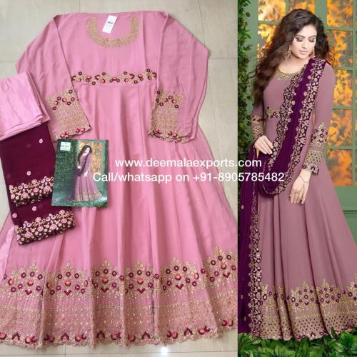 Rama Fashions Raazi Almas 20001 Pink Dress