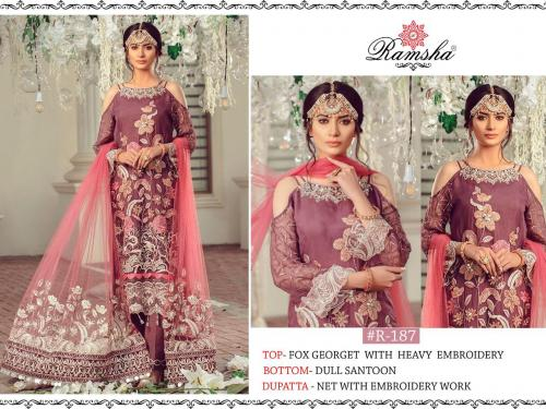 Ramsha 187 Suit Wholesaler