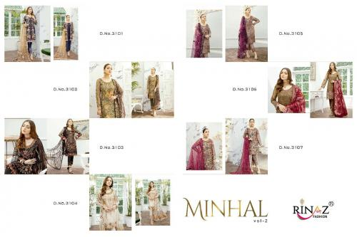 Rinaz Fashion Minhal vol2 3101-3107