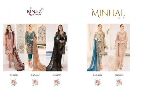 Rinaz Fashion Minhal vol4 4801-4805