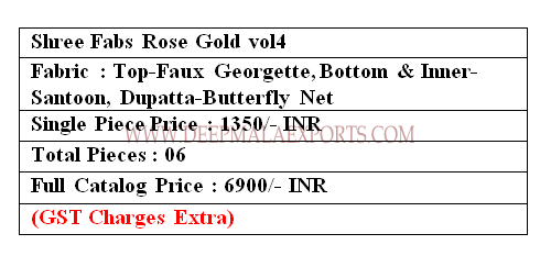 Shree Fabs Rose Gold S-160 Price