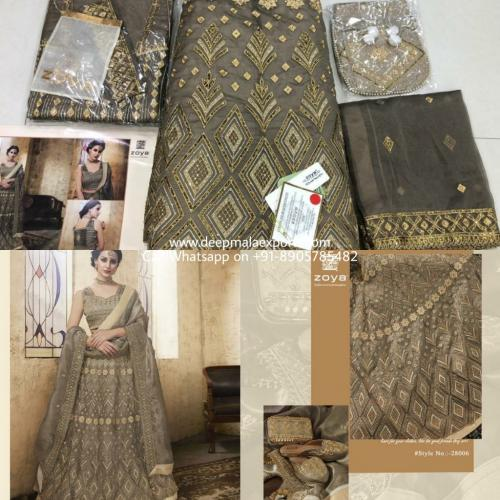 Zoya Festive 28006 Grey Heavy Party Lehenga Choli